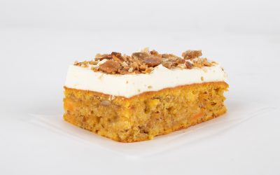 Pumpkin cake with a crispy topping