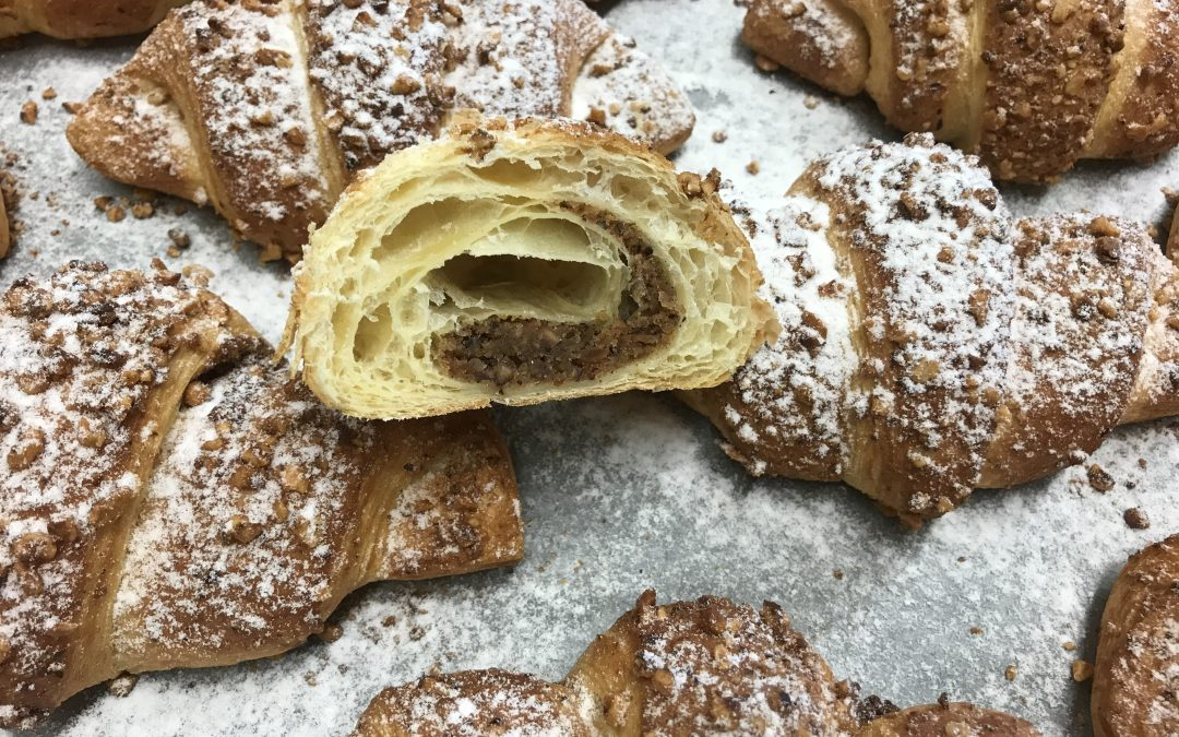 Croissant with nutfilling